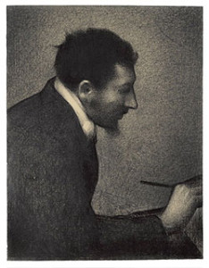 "Georges Seurat Aman-Jean, 1882–83 Conté crayon on paper 24 1/2 x 18 3/4"" (62.2 x 47.6 cm) The Metropolitan Museum of Art, Bequest of Stephen C. Clark, 1960 (61.101.16)"